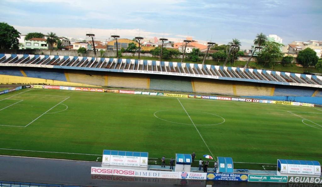 Santo André x Linense - Portões fechados - Estádio Municipal Bruno José Daniel