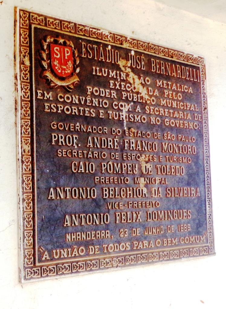 Estádio Municipal José Bernardelli - Nhandeara