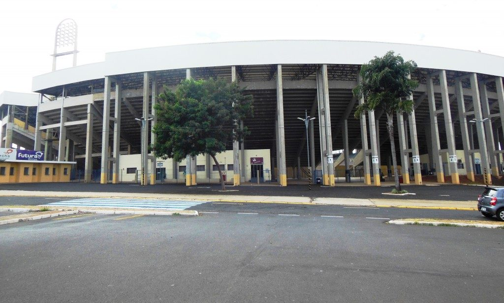 Estádio Municipal Dr Adhemar Pereira de Barros - A fonte luminoisa - Araraquara
