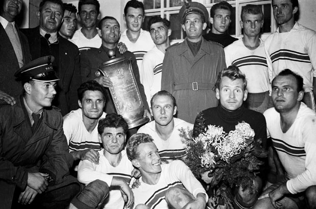Legia Warzsawa champion 1955