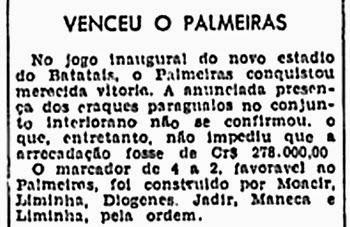 Inauguração do Estádio Doutor Oswaldo Scatena - Batatais