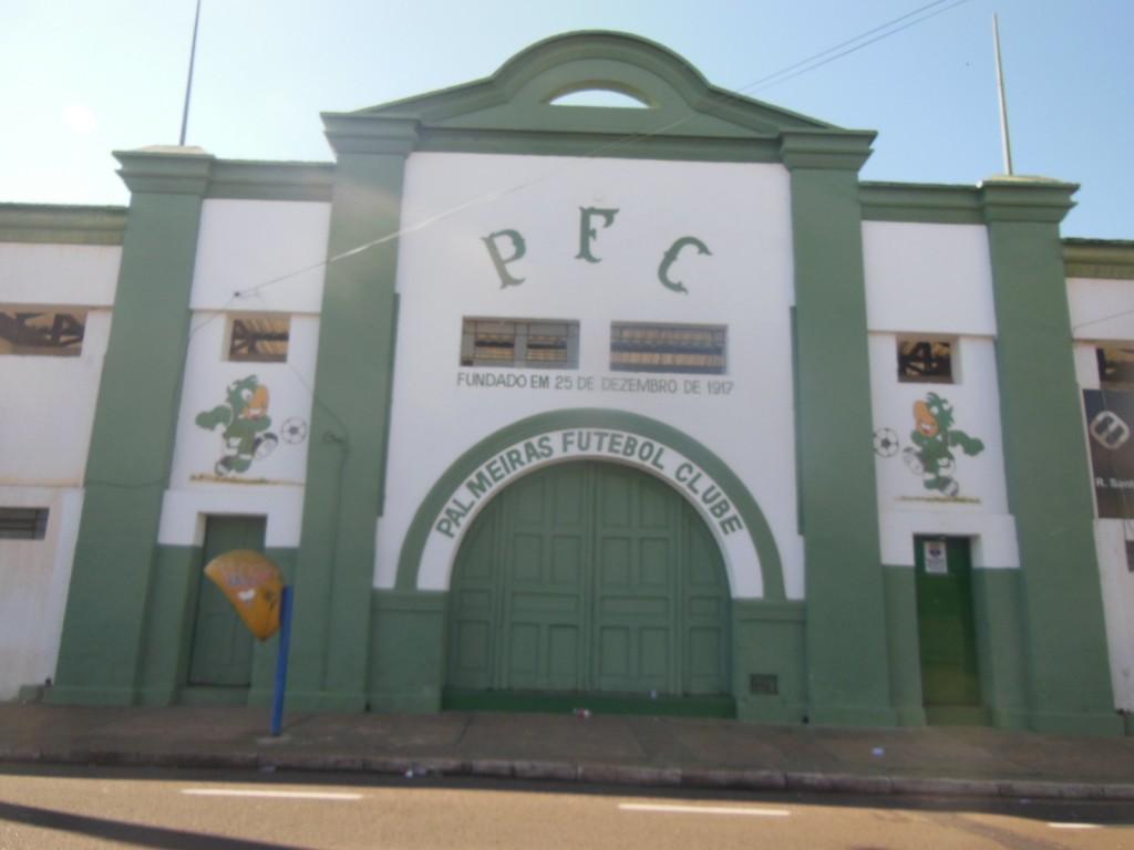 Estádio da Rua Santos Pereira - Palmeiras FC - Palestra Itália - Franca