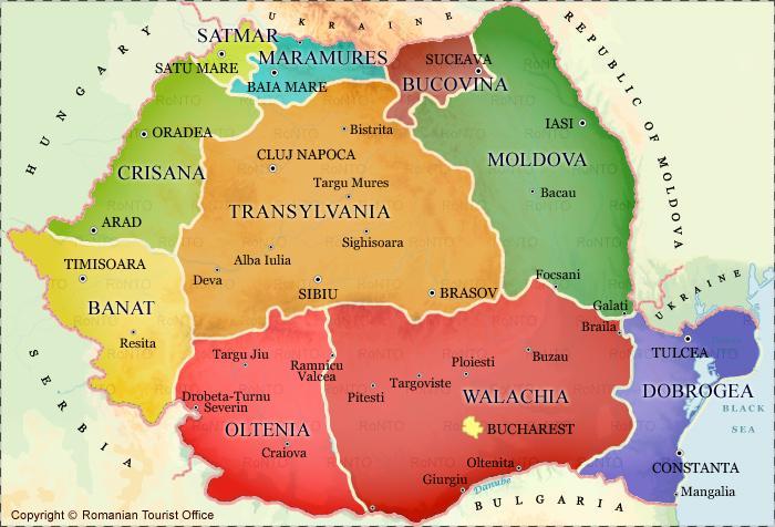 mapa romenia