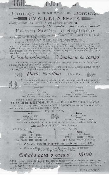 Cartaz Inauguraçao estadio