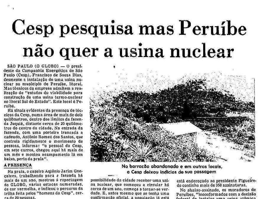 Usina nuclear em peruibe