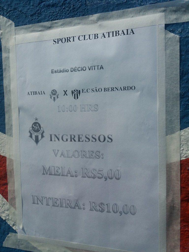 Sport Clube Atibaia 2019 - Copa Paulista