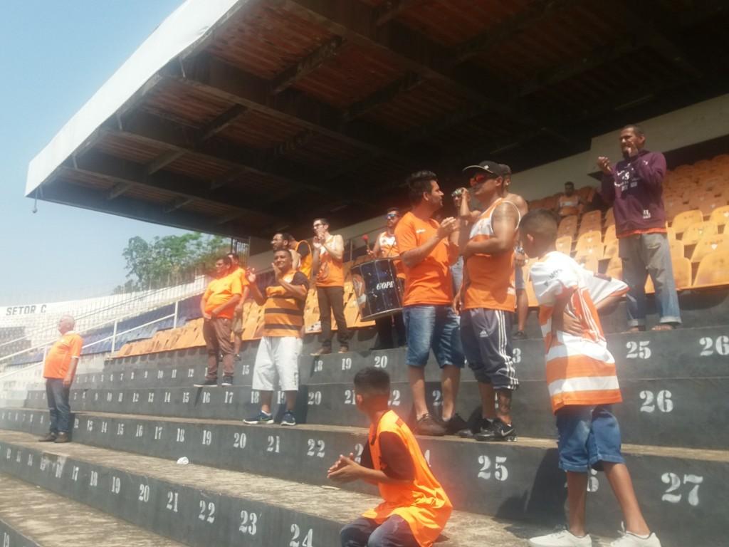 Torcida Guerreiros do Faclão - Estádio Municipal décio Vitta - SC Atibaia x EC São Bernardo - Copa Paulista 2019