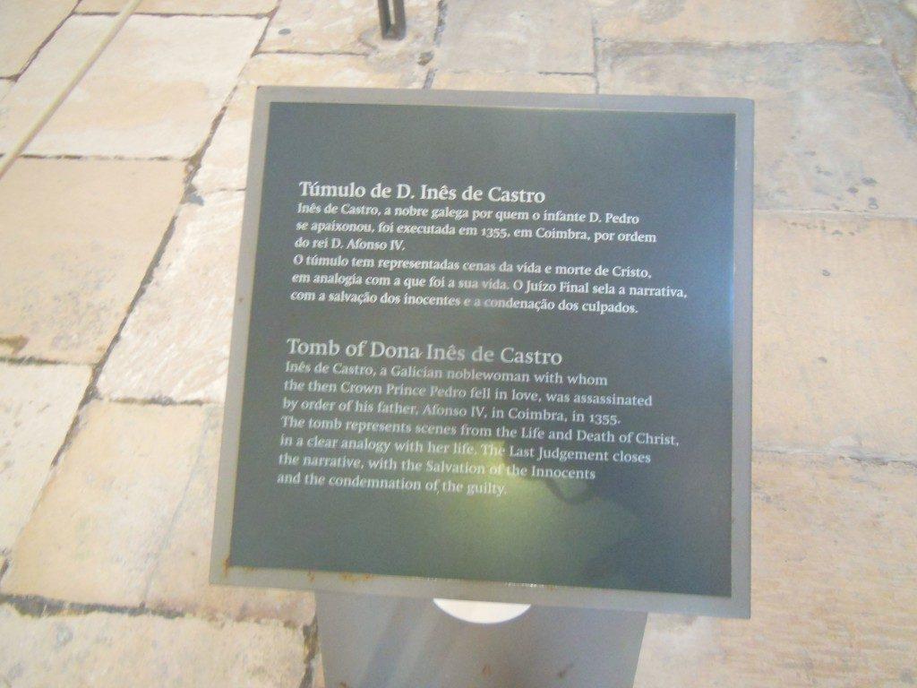 Túmulo de D Ines de Castro - Mosteiro de Alcobaça