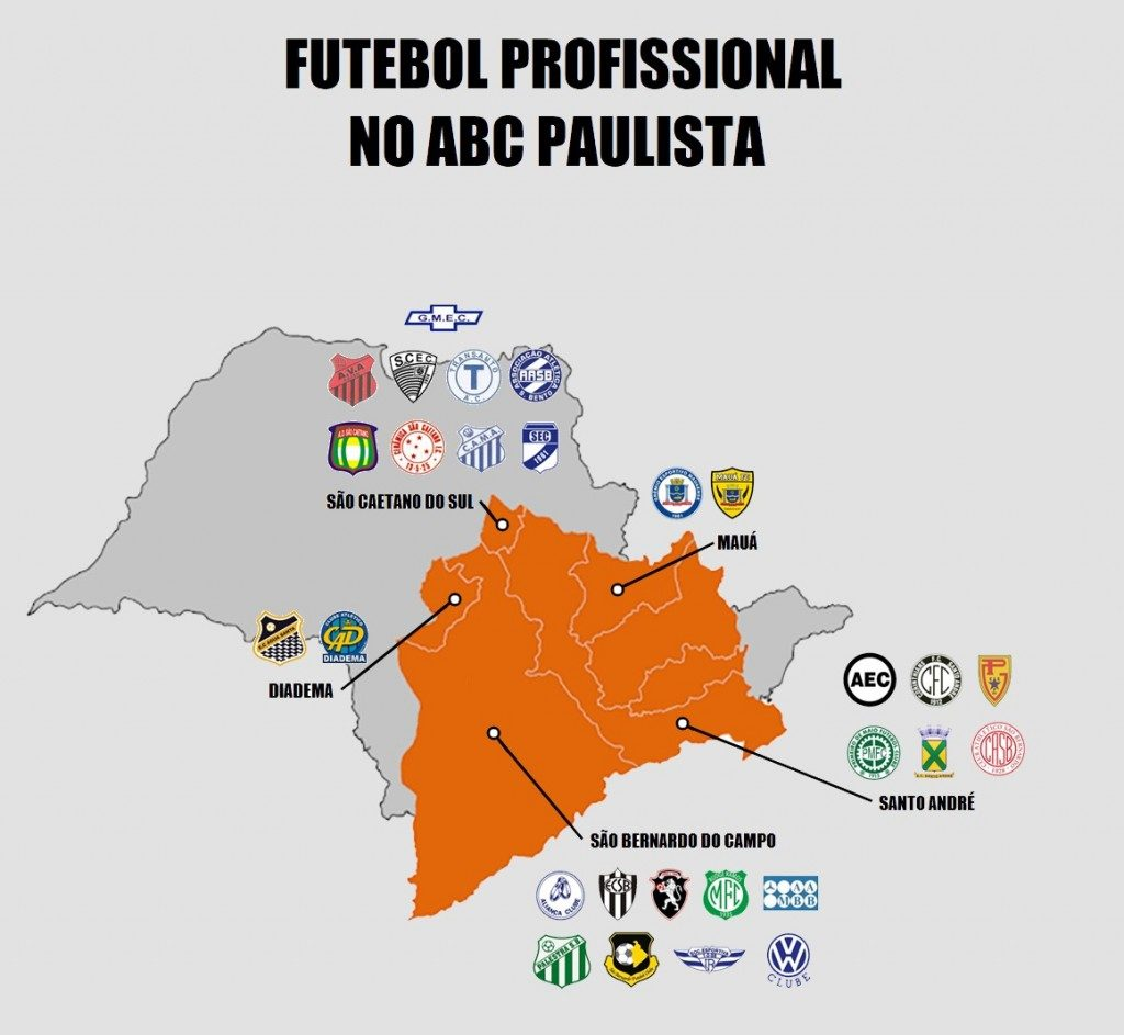 mapa do futebol no abc
