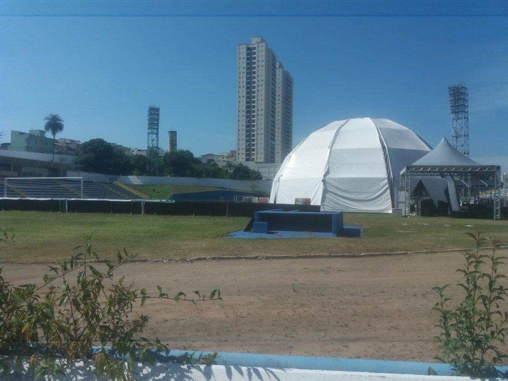 Estádio Bruno José Daniel - EC Santo André - hospital de campanha