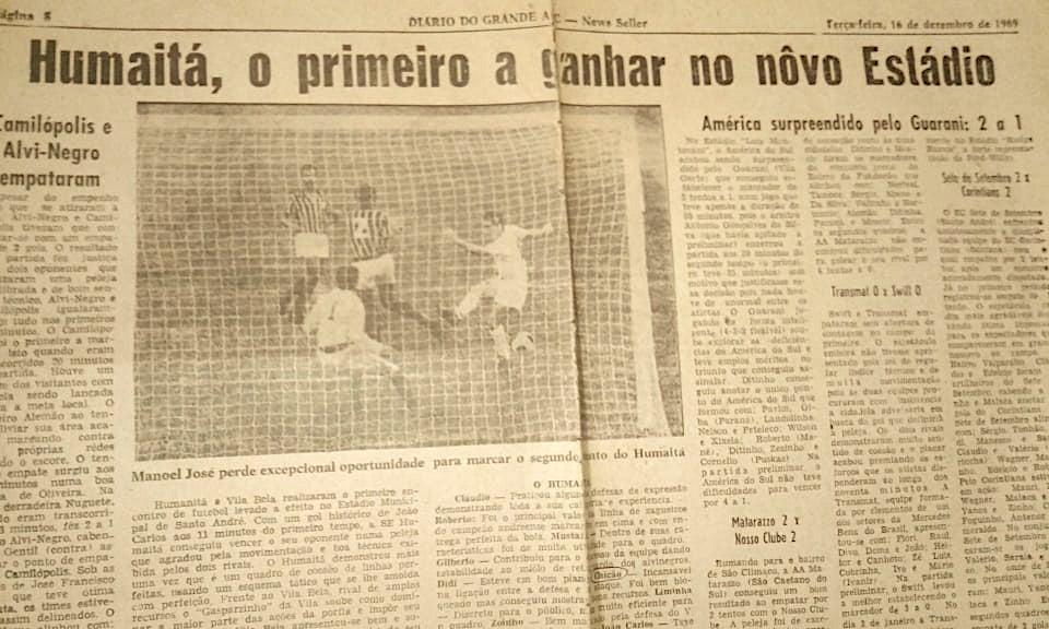Humaitá - inauguração do Estádio Bruno José Daniel