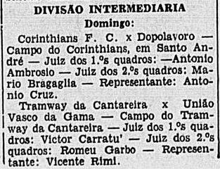 Corinthians FX x Dopolavoro (fascistas)