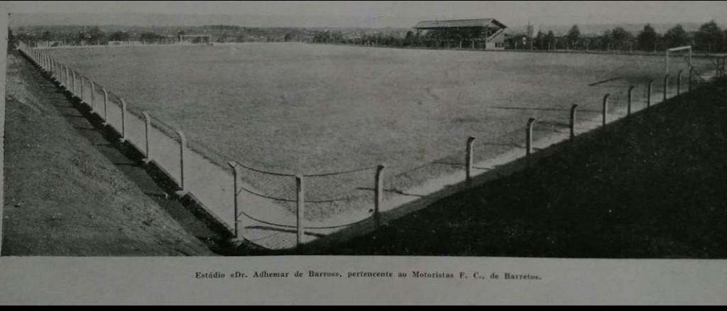 """Estádio Dr Adhemar de Barros Filho - """"Campo dos Motoristas da Avenida 21""""."""