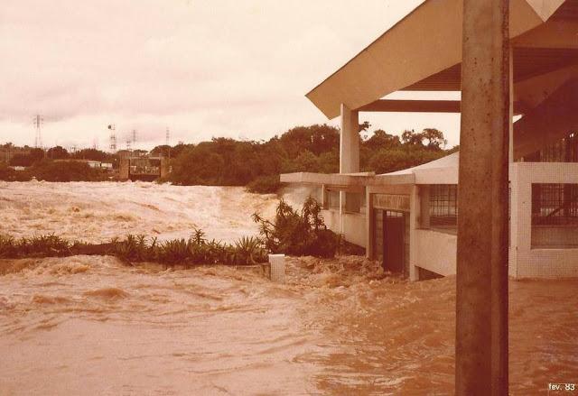 Rio Tietê - Salto - enchente 1983