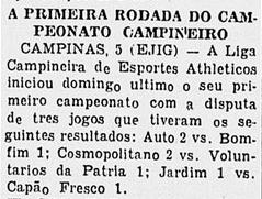 Liga Campineira de 1933