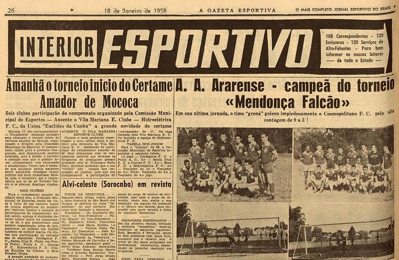 Torneio João Mendonça Falcão 1957
