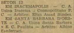 Gazeta Esportiva - Campeonato Amador do Interior 1956