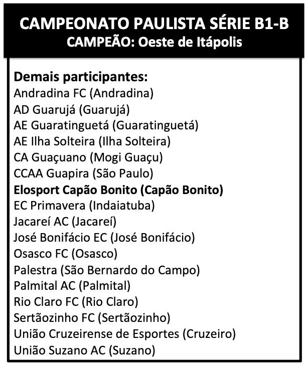 Campeonato Paulista - B1-B