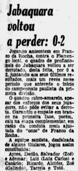 Amistoso Jabaquara x Flamengo