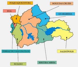 Mapa do alto Tiete