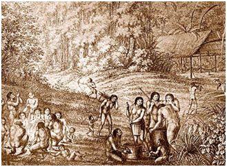 Gravura dos índios Guaianazes